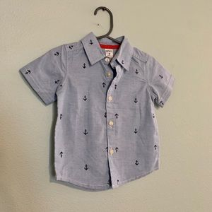 NWOT 9month cute short sleeve button down